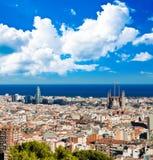Paysage urbain de Barcelone Photos libres de droits