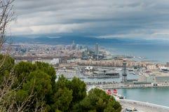 Paysage urbain de Barcelone. Image libre de droits