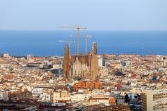 Paysage urbain de Barcelone Photos stock