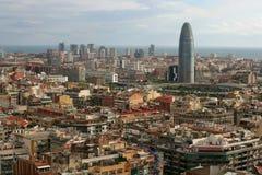 Paysage urbain de Barcelone Images libres de droits