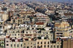 Paysage urbain de Barcelone, Espagne images libres de droits