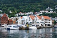 Paysage urbain de Bergen, Norvège Images stock