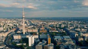 Paysage urbain de Berlin banque de vidéos