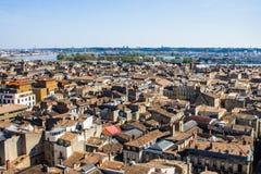 Paysage urbain de Bordeaux, France Photographie stock libre de droits
