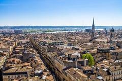 Paysage urbain de Bordeaux, France Images libres de droits