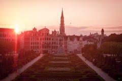 Paysage urbain de Bruxelles Photographie stock libre de droits