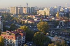 Paysage urbain de Bucarest Photographie stock libre de droits