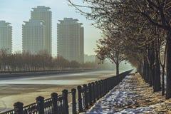 Paysage urbain de Bucarest Images libres de droits