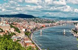 Paysage urbain de Budapest hungary images stock
