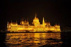 Paysage urbain de Budapest la nuit Image stock