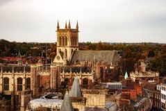 Paysage urbain de Cambridge Photo stock
