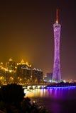 Paysage urbain de canton la nuit Photos libres de droits