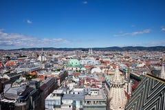 Paysage urbain de capitale de Vienne en Autriche images libres de droits