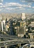 Paysage urbain de capitale de ville d'Amman de la Jordanie Image libre de droits