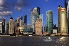 Paysage urbain de Changhaï Photos libres de droits