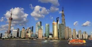 Paysage urbain de Changhaï Images libres de droits