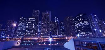 Paysage urbain de Chicago d'horizon Image stock