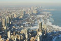 paysage urbain de Chicago du nord Images libres de droits