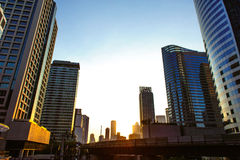 Paysage urbain de Bangkok Images libres de droits