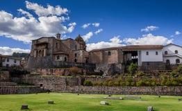 Paysage urbain de Cusco Pérou Vue à la cathédrale photos libres de droits
