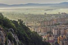 Paysage urbain de début de la matinée Image stock