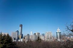 Paysage urbain de Dalian en hiver Image stock