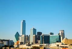 Paysage urbain de Dallas pendant le matin images libres de droits