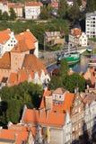 Paysage urbain de Danzig Photos stock