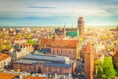 Paysage urbain de Danzig, Pologne images libres de droits