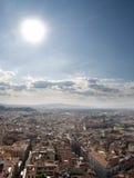 Paysage urbain de Florence visualisé du campanile Photos stock