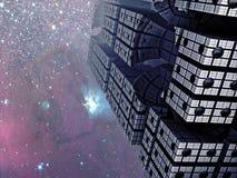 Paysage urbain de fractale Images stock