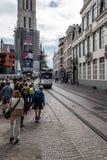 Paysage urbain de Gand Photo libre de droits