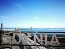Paysage urbain de Gdynia Images stock