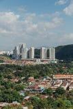 Paysage urbain de George Town cette vue de statue de Guanyin chez Kek Lok Si Temple chez George Town Panang, Malaisie image libre de droits