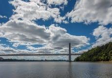 Paysage urbain de George Washington Bridge et de Manhattan photographie stock