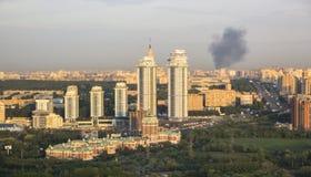 Paysage urbain de gratte-ciel Photos libres de droits