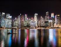 Paysage urbain de gratte-ciel de Singapour Image libre de droits