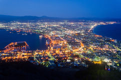 Paysage urbain de Hakodate photo libre de droits