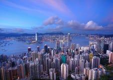 Paysage urbain de Hong Kong photos stock