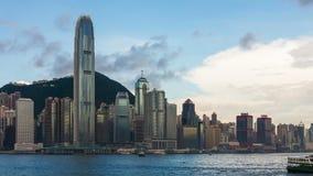 Paysage urbain de Hong Kong banque de vidéos