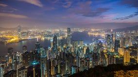 Paysage urbain de Hong Kong Photographie stock libre de droits