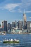 Paysage urbain de Hong Kong Photo stock