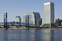 Paysage urbain de Jacksonville, la Floride Photo libre de droits