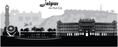 Paysage urbain de Jaipur illustration libre de droits
