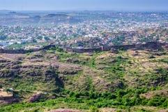 Paysage urbain de Jodhpur de fort de Mehrangarh Images libres de droits