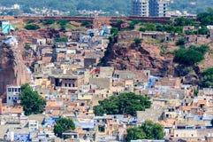 Paysage urbain de Jodhpur de fort de Mehrangarh Photo stock