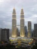 Paysage urbain de Kuala Lumpur avec la Tour jumelle Photos libres de droits