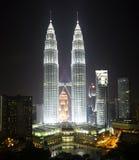 Paysage urbain de Kuala Lumpur avec la Tour jumelle Photographie stock