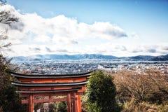 Paysage urbain de Kyoto, Japon image libre de droits