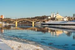Paysage urbain de l'hiver Photographie stock